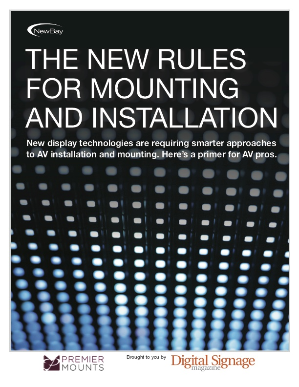 New Rules of Mounting and Installation Premier Mounts